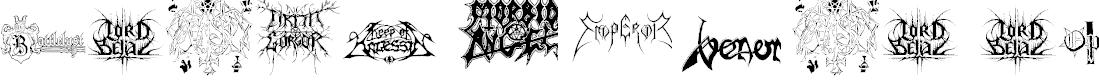 Preview image for Black Metal Logos Font
