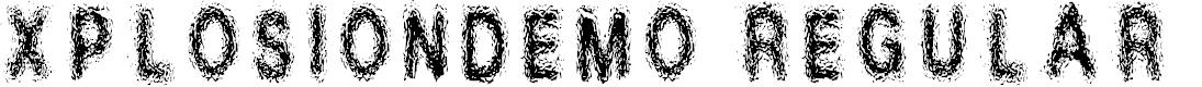 Preview image for Xplosion_demo Regular Font