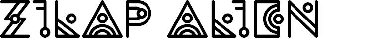 Preview image for Zilap Alien Font