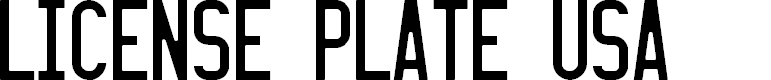 Preview image for LICENSE PLATE USA Font