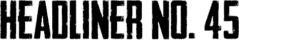 Preview image for Headliner No. 45 Font