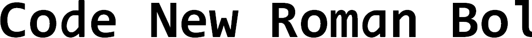 Preview image for Code New Roman Bold Font