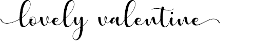 Preview image for lovelyvalentine Font