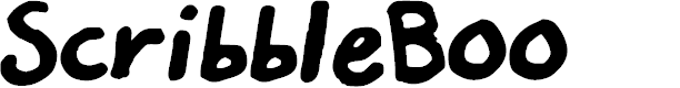 Preview image for Scribble_Boo Font