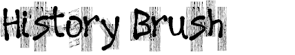 Preview image for History Brush Font