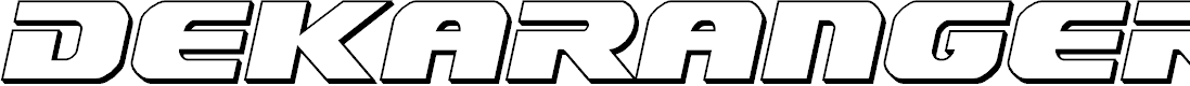 Preview image for Dekaranger 3D Italic