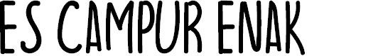 Preview image for ES CAMPUR ENAK Font