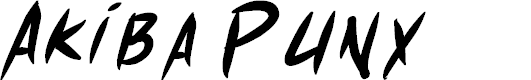 Preview image for Akiba Punx Bold Italic Font