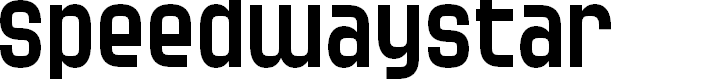 Preview image for SF Speedwaystar Font