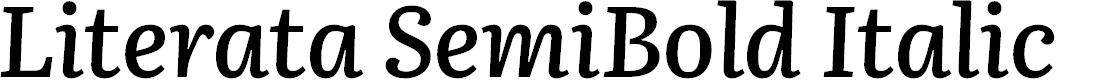 Preview image for Literata SemiBold Italic