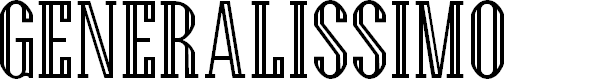 Preview image for Generalissimo Regular Font