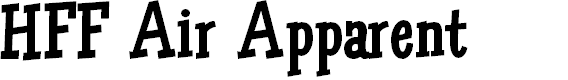 Preview image for HFF Air Apparent Font