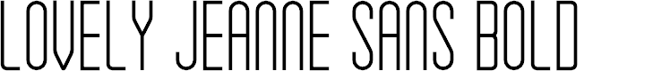 Preview image for Lovely Jeanne Sans Bold
