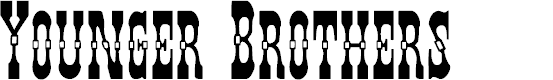 Preview image for Younger Brothers Font
