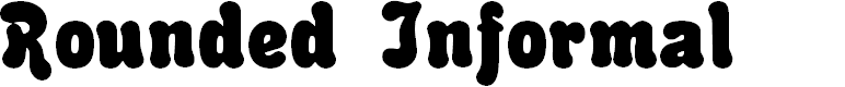 Preview image for Rounded Informal Font