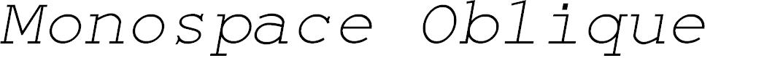 Preview image for Monospace Oblique