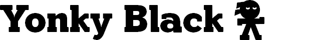 Preview image for YonkyBlack Font