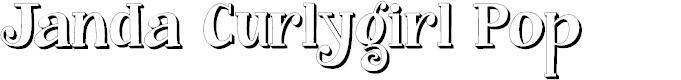 Preview image for Janda Curlygirl Pop Font
