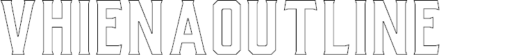 Preview image for VhienaOutline Font