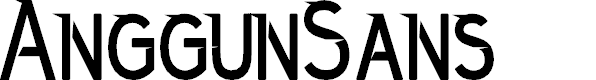 Preview image for AnggunSans Font