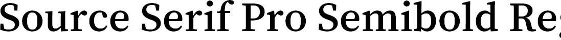 Preview image for Source Serif Pro Semibold Regular