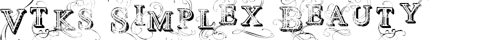Preview image for Vtks Simplex Beauty 2 Font
