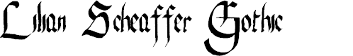 Preview image for Lilian Scheaffer Gothic Font