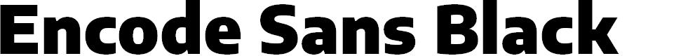 Preview image for Encode Sans Black Font