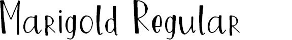 Preview image for Marigold Regular Font