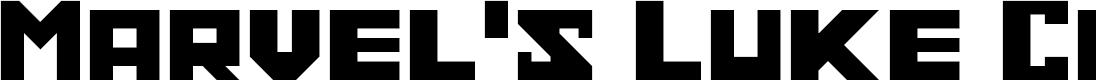 Preview image for Marvel's Luke Cage Regular Font
