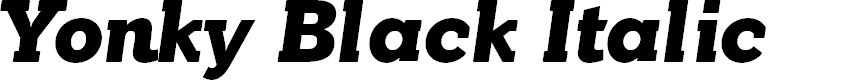 Preview image for YonkyBlack-Italic