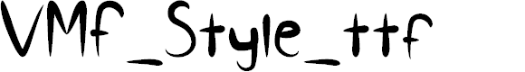 Preview image for VMF_Style_ttf Font