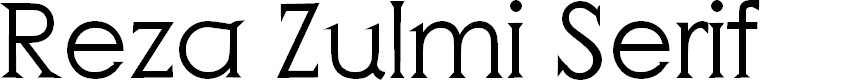 Preview image for Reza Zulmi Serif