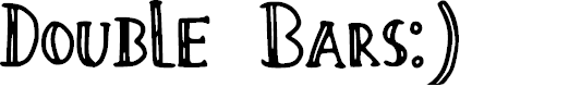 Preview image for Double_Bars Font