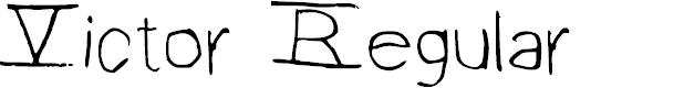 Preview image for Victor Regular Font