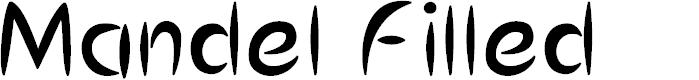 Preview image for MandelFilled Font