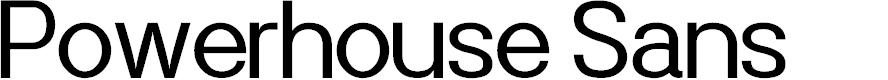 Preview image for Powerhouse Sans Font