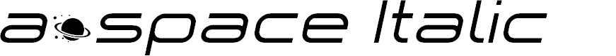 Preview image for a•space Italic