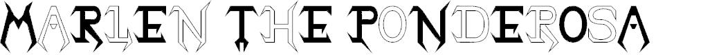 Preview image for Marlen The Ponderosa Font