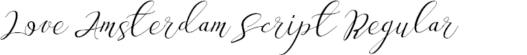 Preview image for Love Amsterdam Script Regular