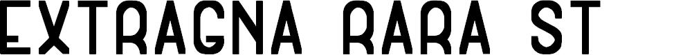 Preview image for Extragna Rara St Font