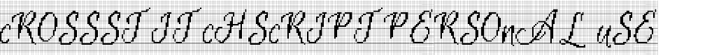 Preview image for CrossStitchScriptPersonal Use Font