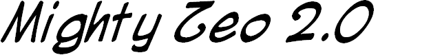 Preview image for Mighty Zeo 2.0 Italic