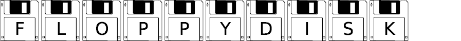 Preview image for FloppyDisk Font