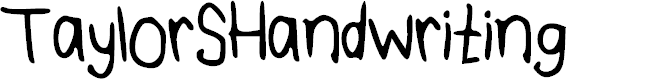 Preview image for TaylorSHandwriting Font