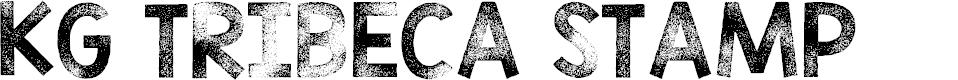 Preview image for KG TRIBECA STAMP Font