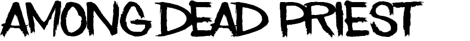 Preview image for Among Dead Priest Font