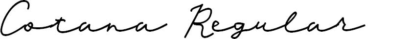 Preview image for Cotana Regular Font
