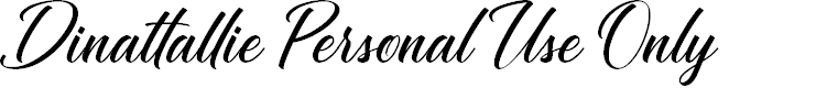 Preview image for Dinattallie Personal Use Only Font
