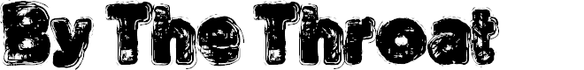 Preview image for By The Throat Font